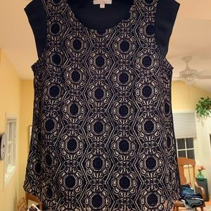 Beautiful detailed sleeveless top